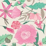 Fototapety Summer Pattern in Pale Colors