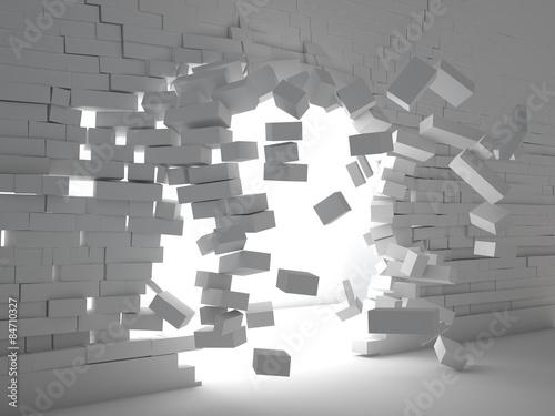 fototapeta na ścianę Eksplozja cegły