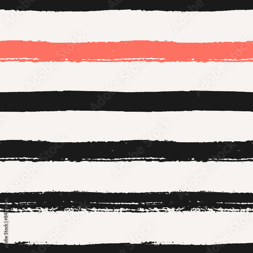 Materiał do szycia Hand Drawn Stripes Seamless Pattern