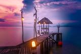 twilight pier koh mak island