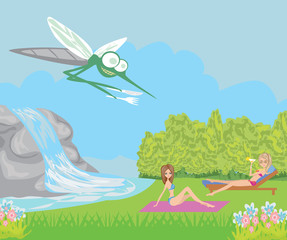 hungry mosquito cartoon