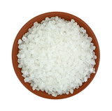 Bowl of coarse sea salt
