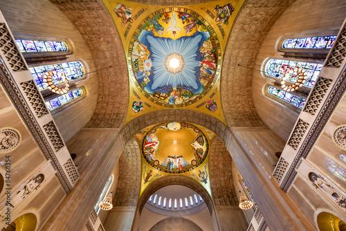 In de dag Barcelona Basilica of the National Shrine Catholic Church