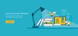 Fototapety Flat design modern vector illustration icons set of online