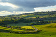 Countryside, green hills , Tuscany, Italy