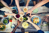 Food Table Healthy Delicious Organic Meal Concept - Fine Art prints