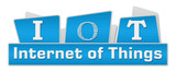 IoT - Internet Of Things Blue Blocks On Top  poster