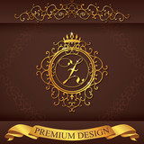 Letter Z. Luxury Logo template flourishes calligraphic elegant ornament lines. Business sign, identity for Restaurant, Royalty, Boutique, Hotel, Heraldic, Jewelry, Fashion, vector illustration poster
