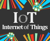 IoT - Internet Of Things Dark Colorful Elements  poster
