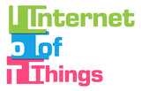IoT - Internet Of Things Colorful Stripes  poster