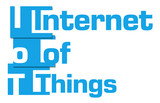 IoT - Internet Of Things Blue Stripes  poster