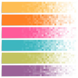 Fototapety Set of colorful pixel banners