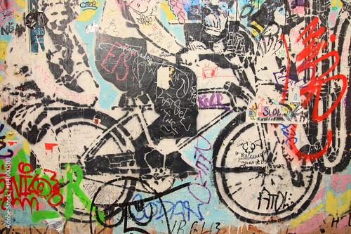 graffiti berlín bicicleta 6221-f15 Poster