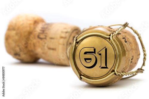 Poster Champagnerkorken Jubiläum 61 Jahre