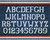 Fototapety Vintage american font on retro background, EPS 10 contains transparency, layered vector file.