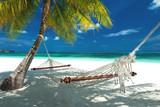 Hängematte am Strand auf den Malediven