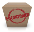 Постер, плакат: DIscontinued Cardboard Box Cancelled Product Out of Stock