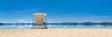 Fototapety Lake beach with lifeguard station