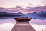 Fototapety Boats sit on the dock at Lake McDonald