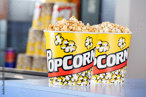 Keuken foto achterwand Boodschappen Popcorn Buckets At Concession Stand