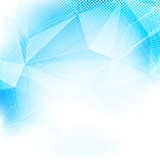 Fototapety Crystal structure modern abstract blue layout