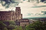 Fototapeta Heidelberg Castle Overlooking Town on Neckar River