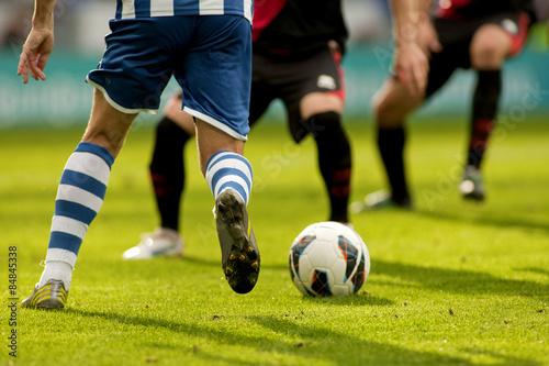 Poster Futbol. Disputa de balon