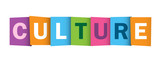 CULTURE Overlapping Letters Vector Icon
