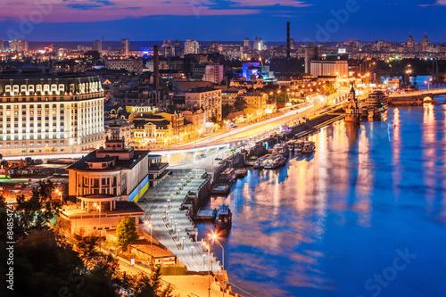 Aluminium Kiev Evening aerial scenery of Kyiv, Ukraine