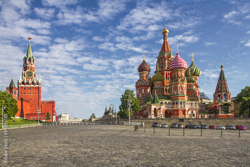 Moscow Kremlin and St. Basil Cathedral on Red Square Poster