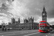 Houses of Parliament and a bus, London