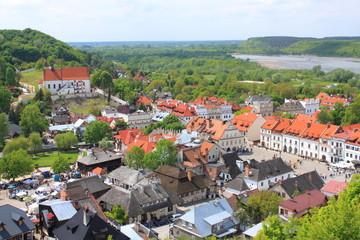 Kazimierz Dolny nad Wisłą - widok ze Wgórza trzech Krzyży.