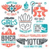 Car and biker masculine badges