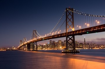Fototapeta most nocą w San Francisco