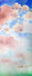 Watercolor painted abstract sky for background, texture