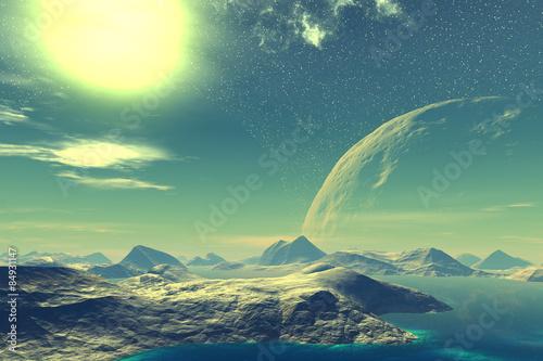 Plakat Fantasy alien planet.