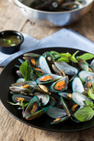scald mussel with thai sweet basil and spicy seafood sauce poster