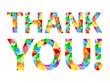 Sticker - Vector Polygon Alphabet Card THANK YOU!
