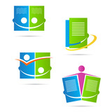 Publishing book logo vector design represents education and publishing sign and symbol.