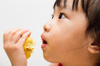 Chinese Girl Eating Durian