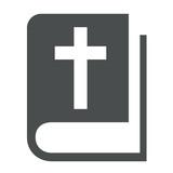 Icono libro cristianismo gris