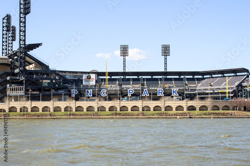 Poster PNC Park Front - View of Pittsburghs PNC Park Baseball Stadium that Rests on the