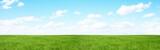 Fototapety Green field and blue sky