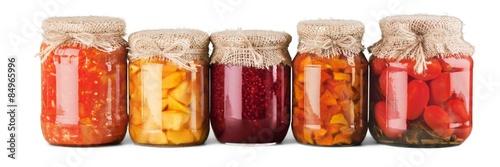 Fotobehang Verse groenten Jar, Food, Canning.