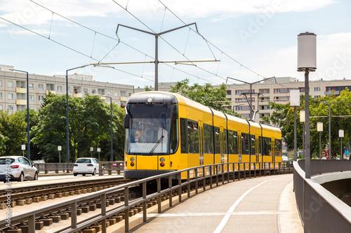 Modern tram in Dresden © Sergii Figurnyi