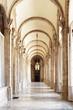 Obrazy na płótnie, fototapety, zdjęcia, fotoobrazy drukowane : The beautiful passage with arches in the Royal Palace of Madrid