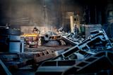 casting steel metallurgy factory poster