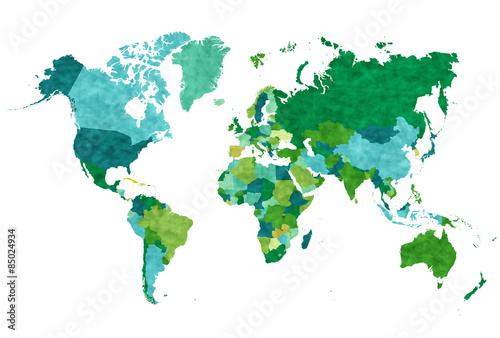 Fotobehang Wereldkaarten 世界 地図 アイコン
