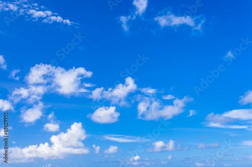 ciel bleu des Seychelles
