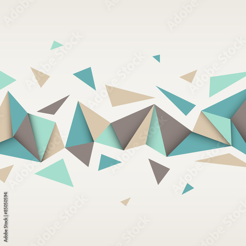Naklejka dekoracyjna Illustration of abstract texture with triangles.